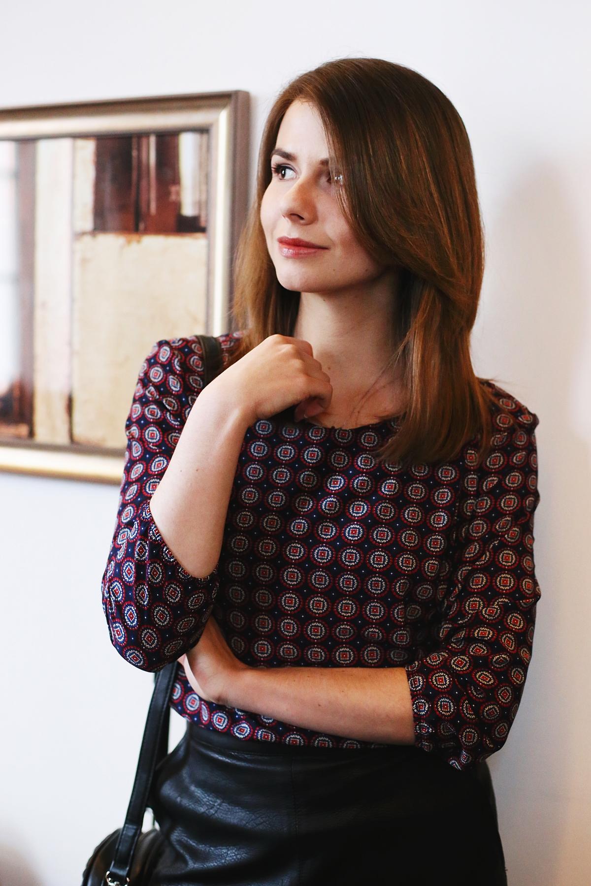 Wzorzysta bluzka Quiosque