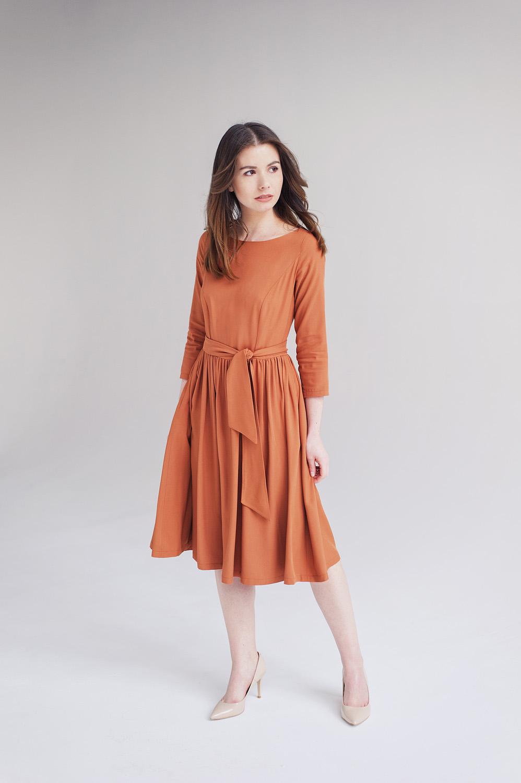 Limitowana edycja sukienki Melia - Marie Zelie - cynamonowa