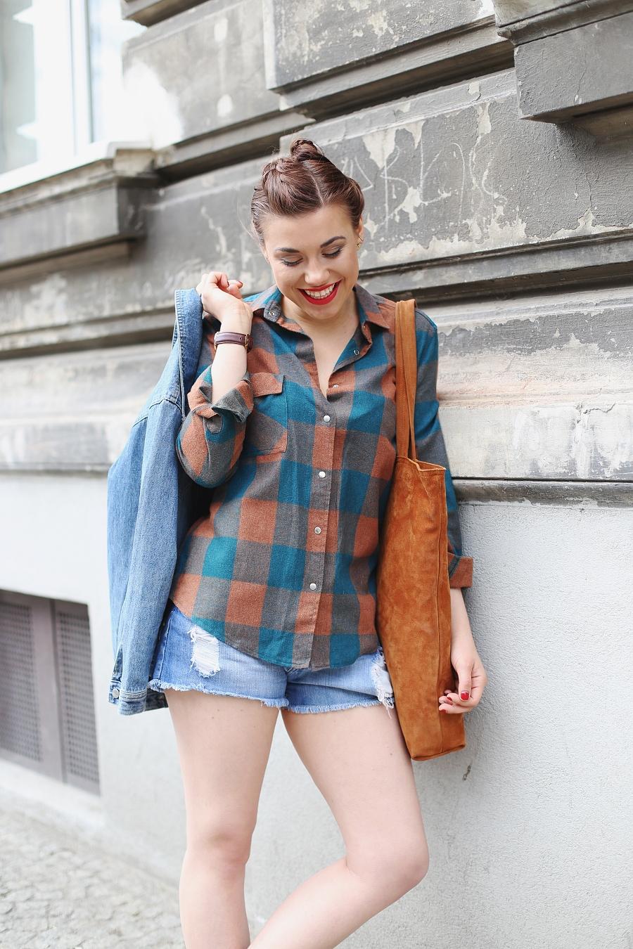 Jeans & brąz