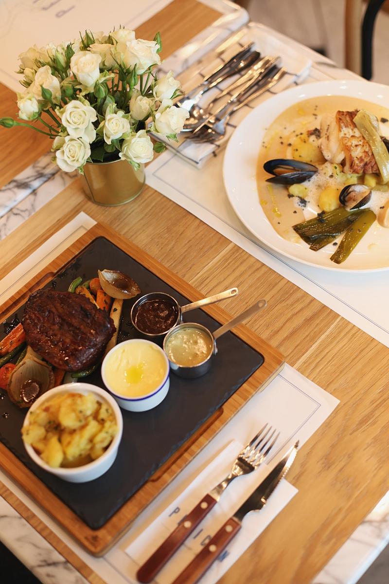 Restauracja PÉLICAN w Sopocie - polędwica z dorsza i stek