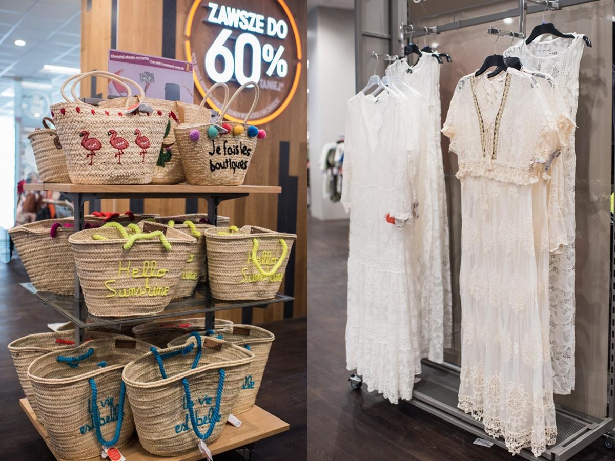 TK Maxx w Forum Gdańsk - wielka dostawa torebek, torebki plecione, koszyki, sukienkii