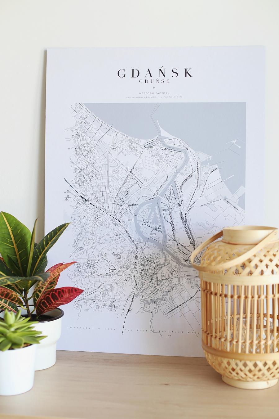 Plakat tekturowy Gdańsk