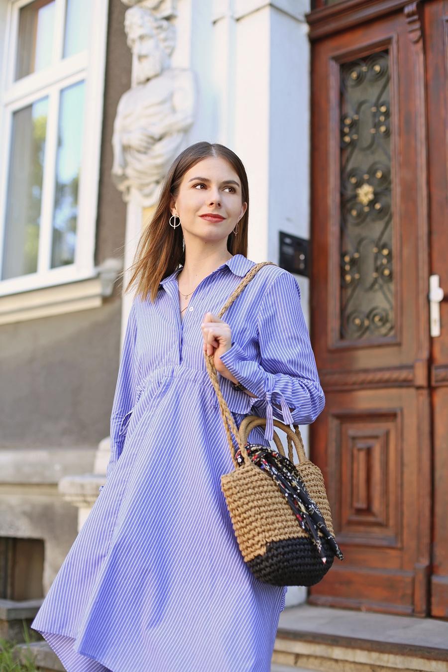 Koszulowa sukienka - sesja Gdańsk Wrzeszcz