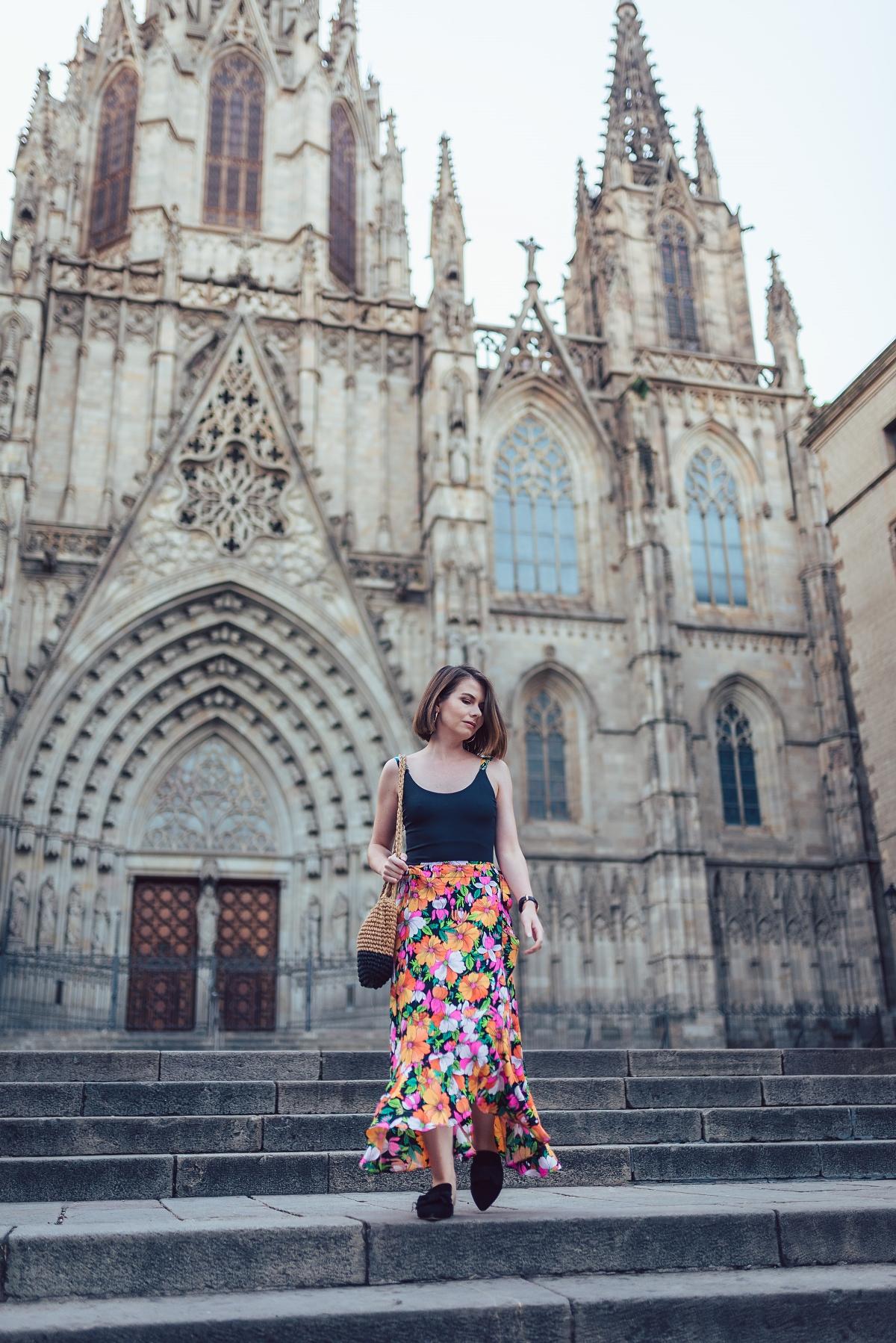 Barcelona Katedra Świętej Eulalii sesja modowa