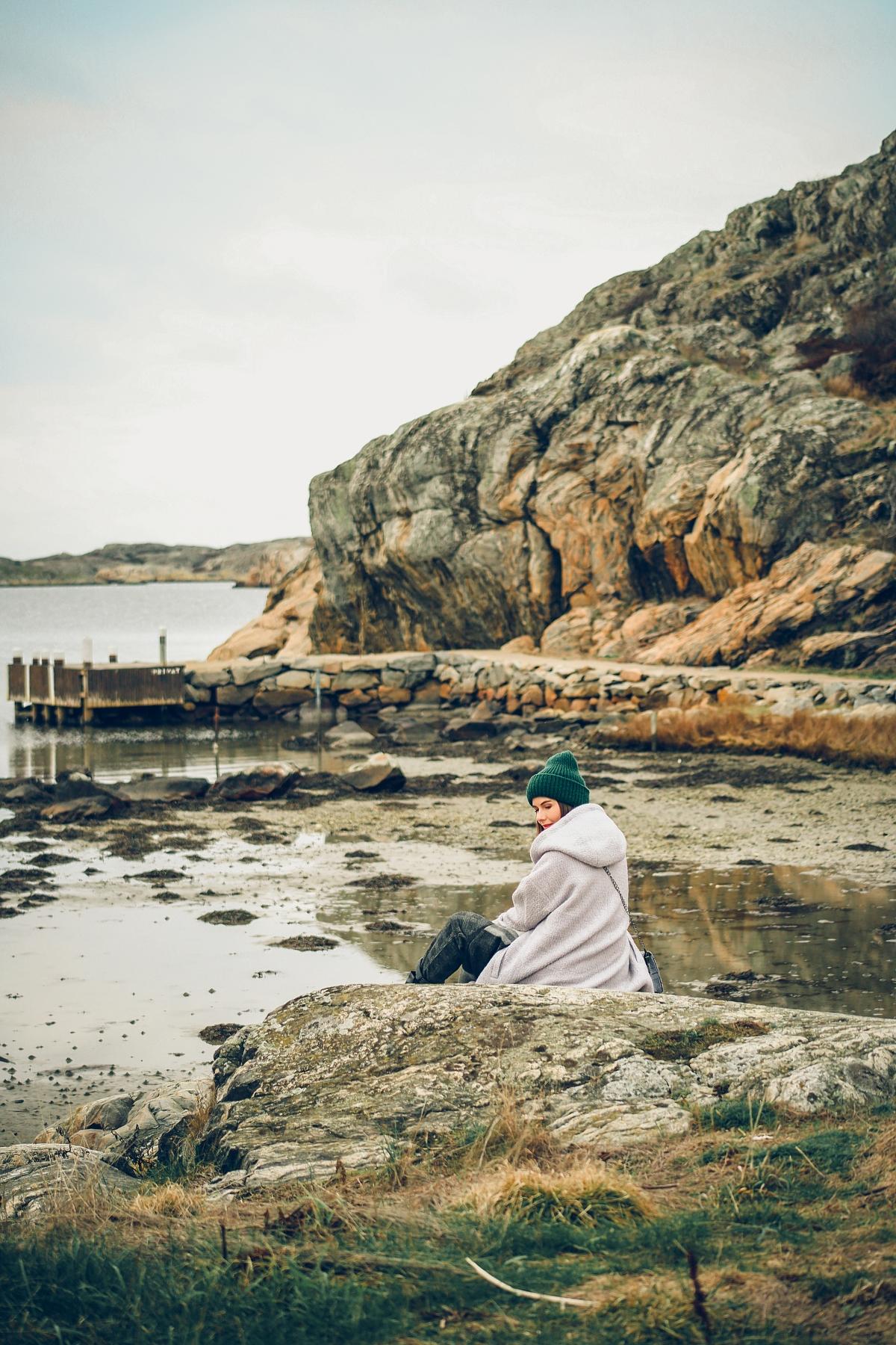 wyspa Brännö Szwecja Göteborg skandynawski look