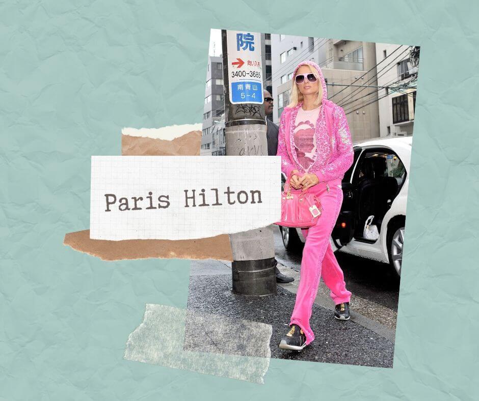Paris Hilton różowy dres