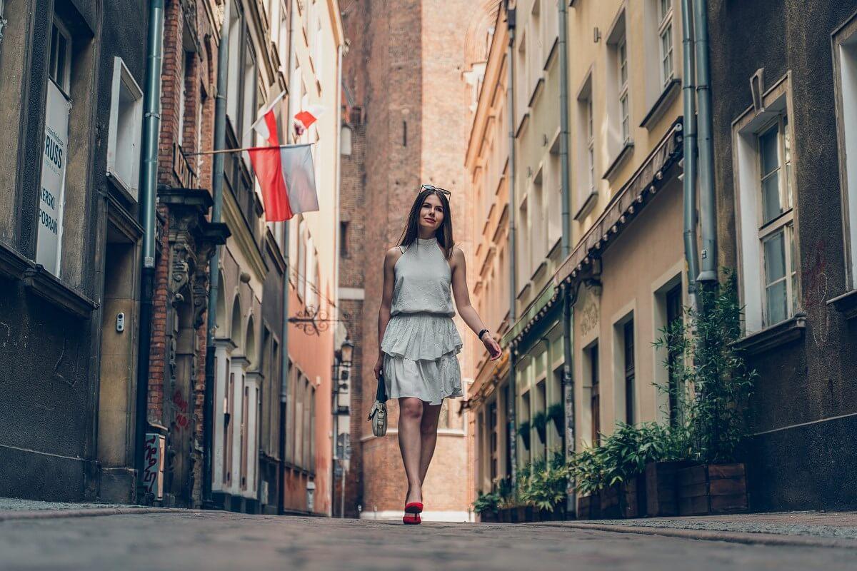 sukienka w groszki Laurella