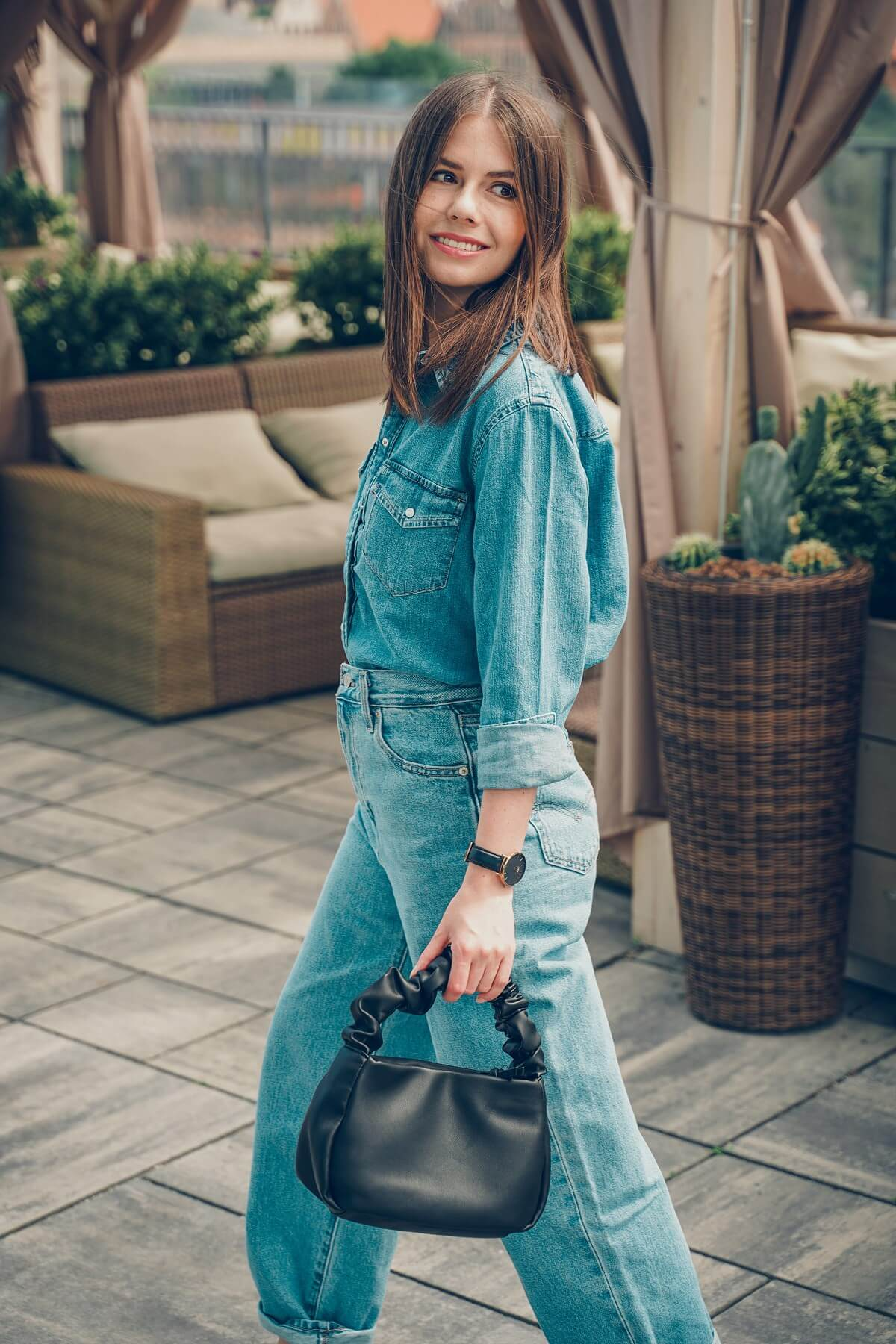 jeansy slouchy jeans total look