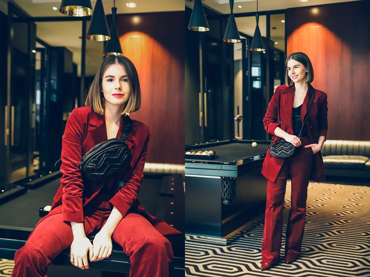 stylizacje sylwestrowe damski garnitur