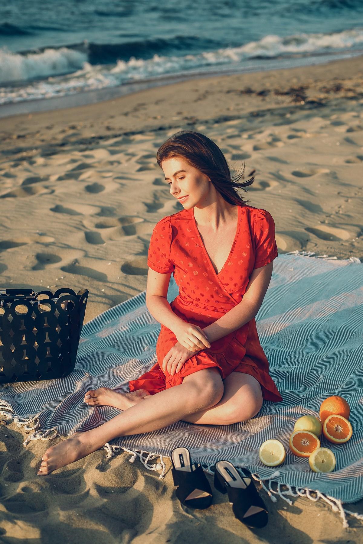 romantyczna stylizacja orsay sesja owoce