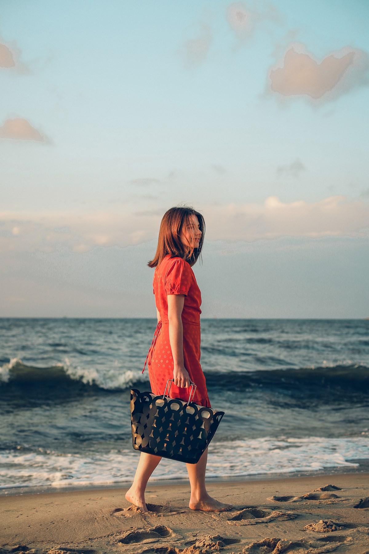 romantyczna stylizacja orsay sesja nad morzem