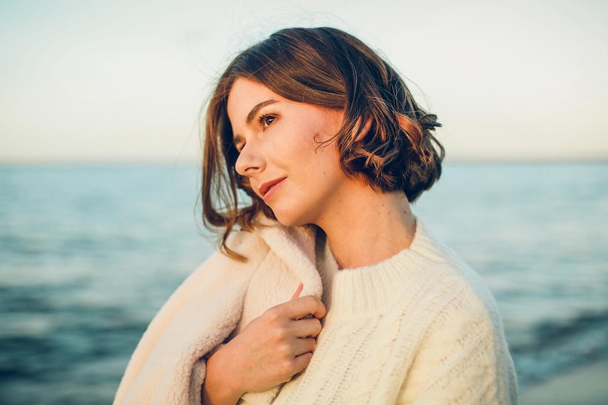 kurtka miś i sweter ecru blog modowy