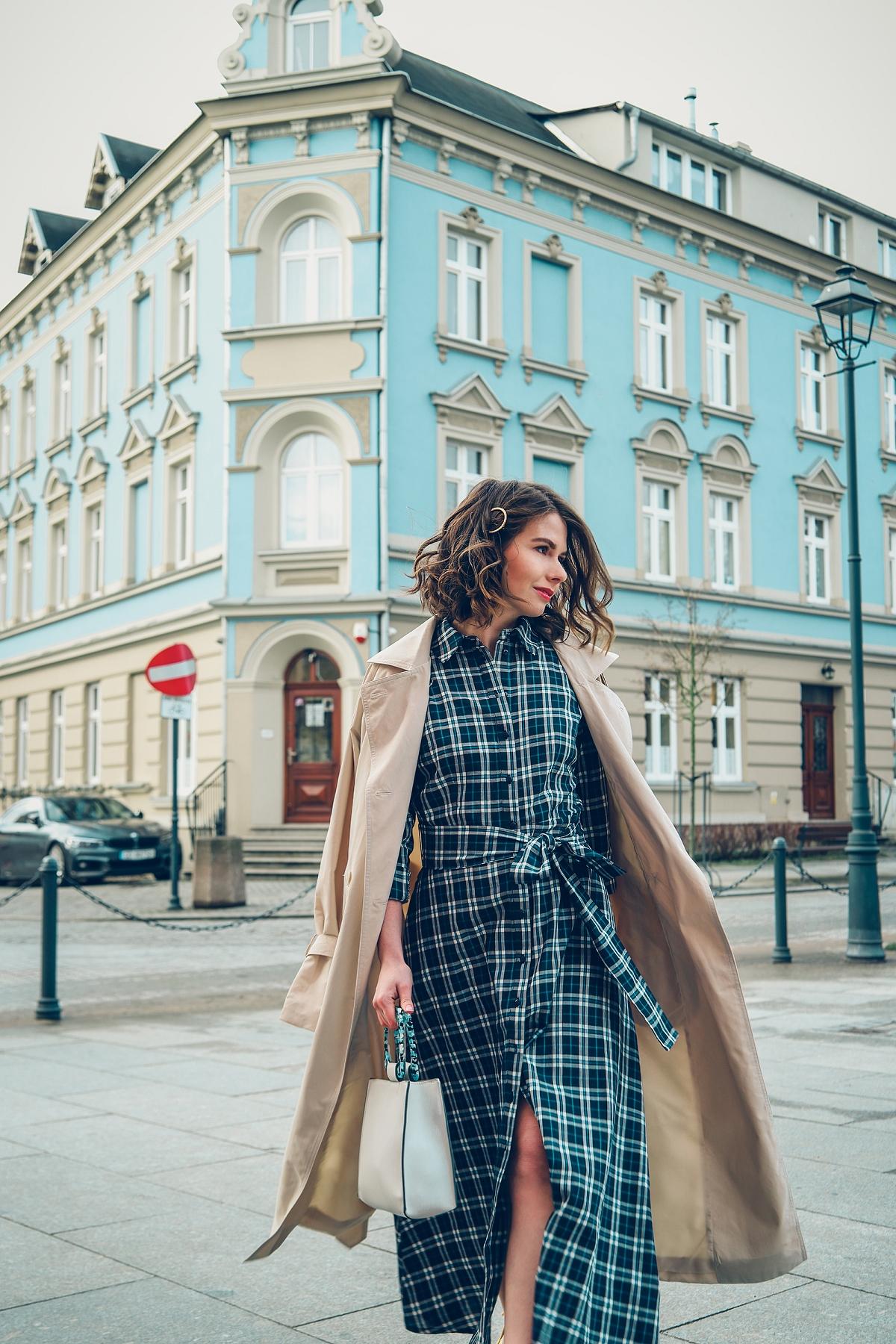 szmizjerka w krate orsay blog modowy street style gdansk wiosenna stylizacja