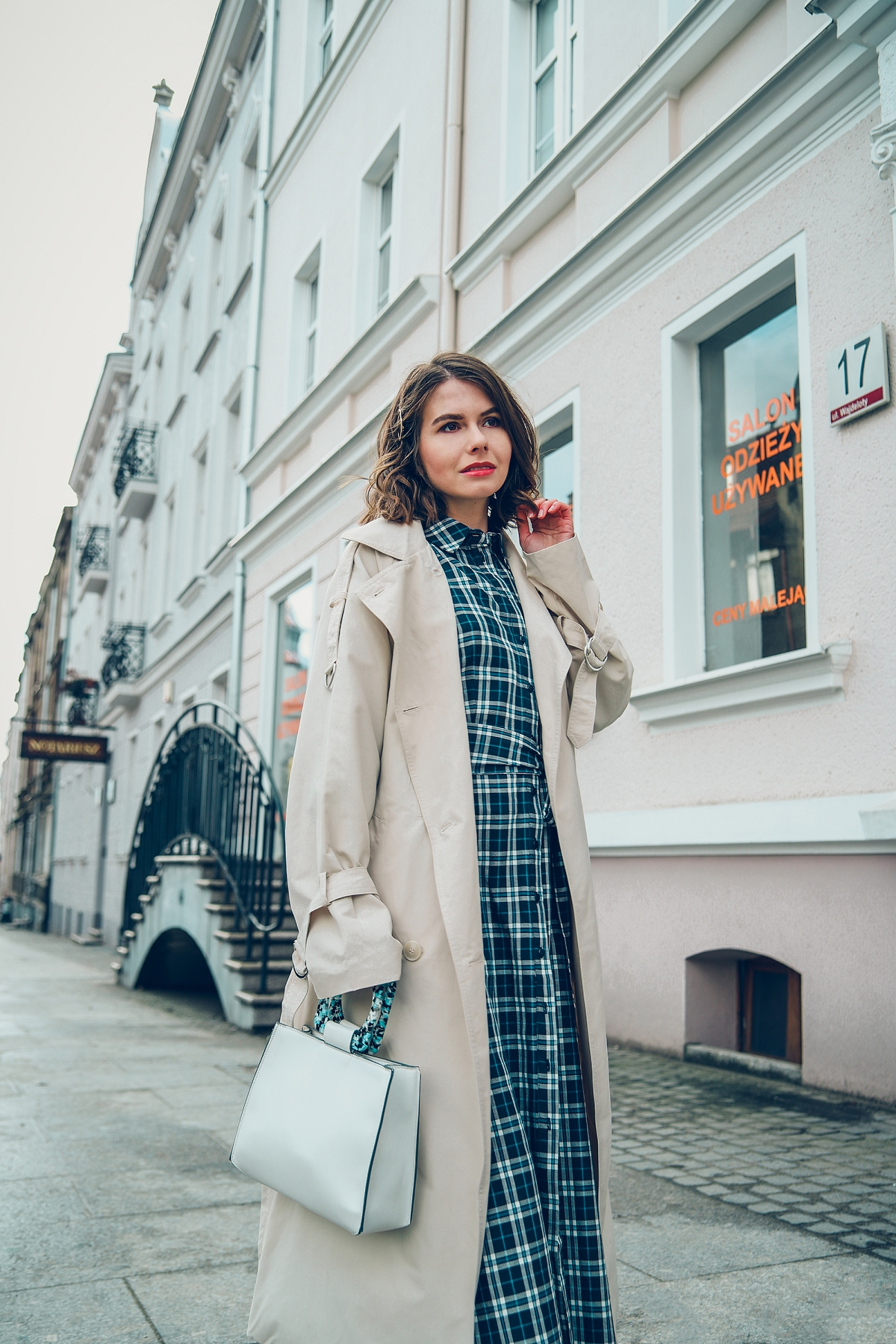 szmizjerka w krate orsay blog modowy street style gdansk