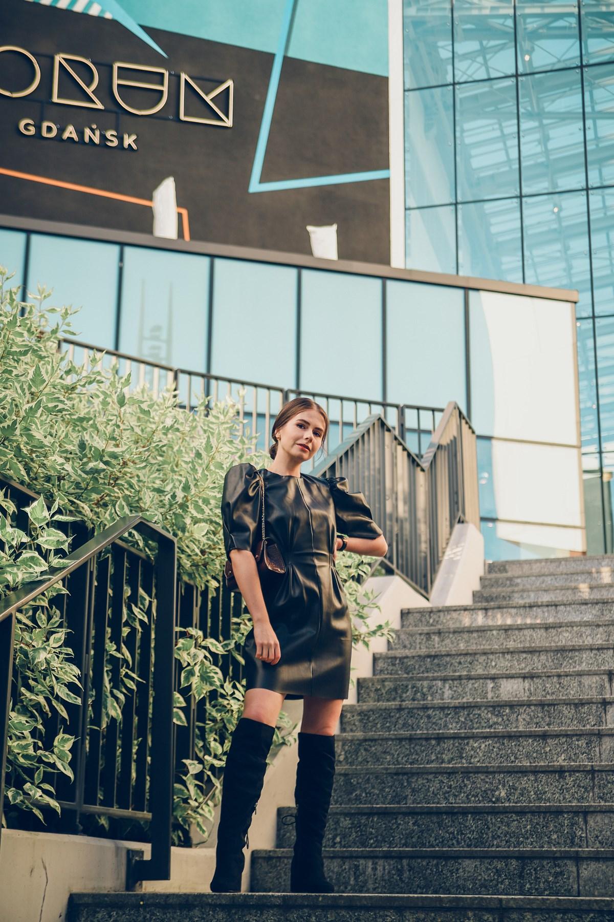skórzana sukienka Zara Forum Gdańsk