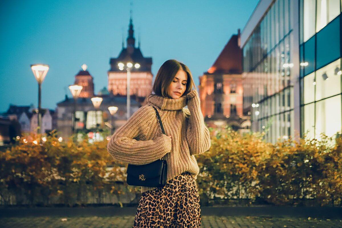 beżowy total look cętki forum gdańsk