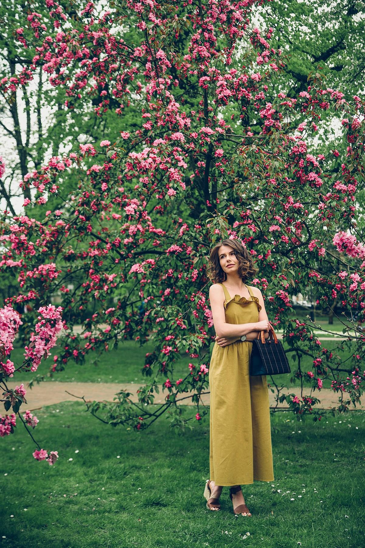 letnia sukienka z falbana blog modowy gdansk
