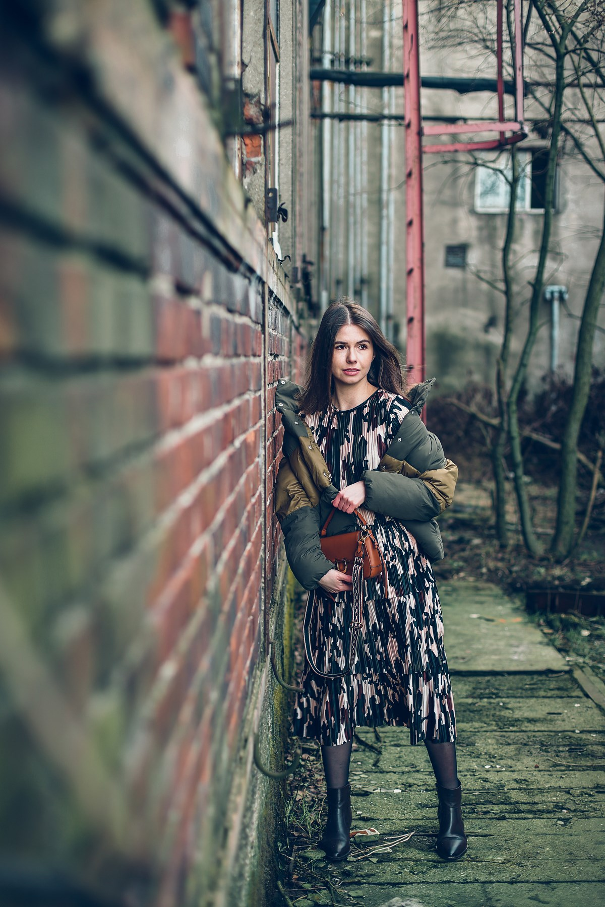 sukienka moro puchówka blog modowy stocznia gdańsk