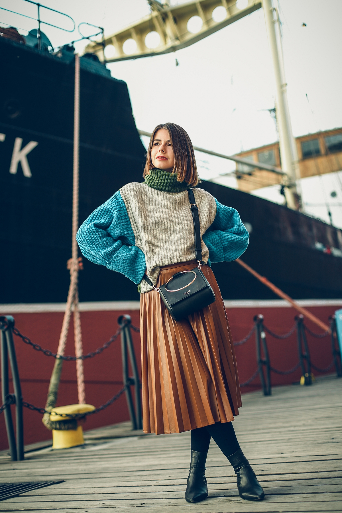 golf plisowana spodnica blog modowy stylizacja  gdansk
