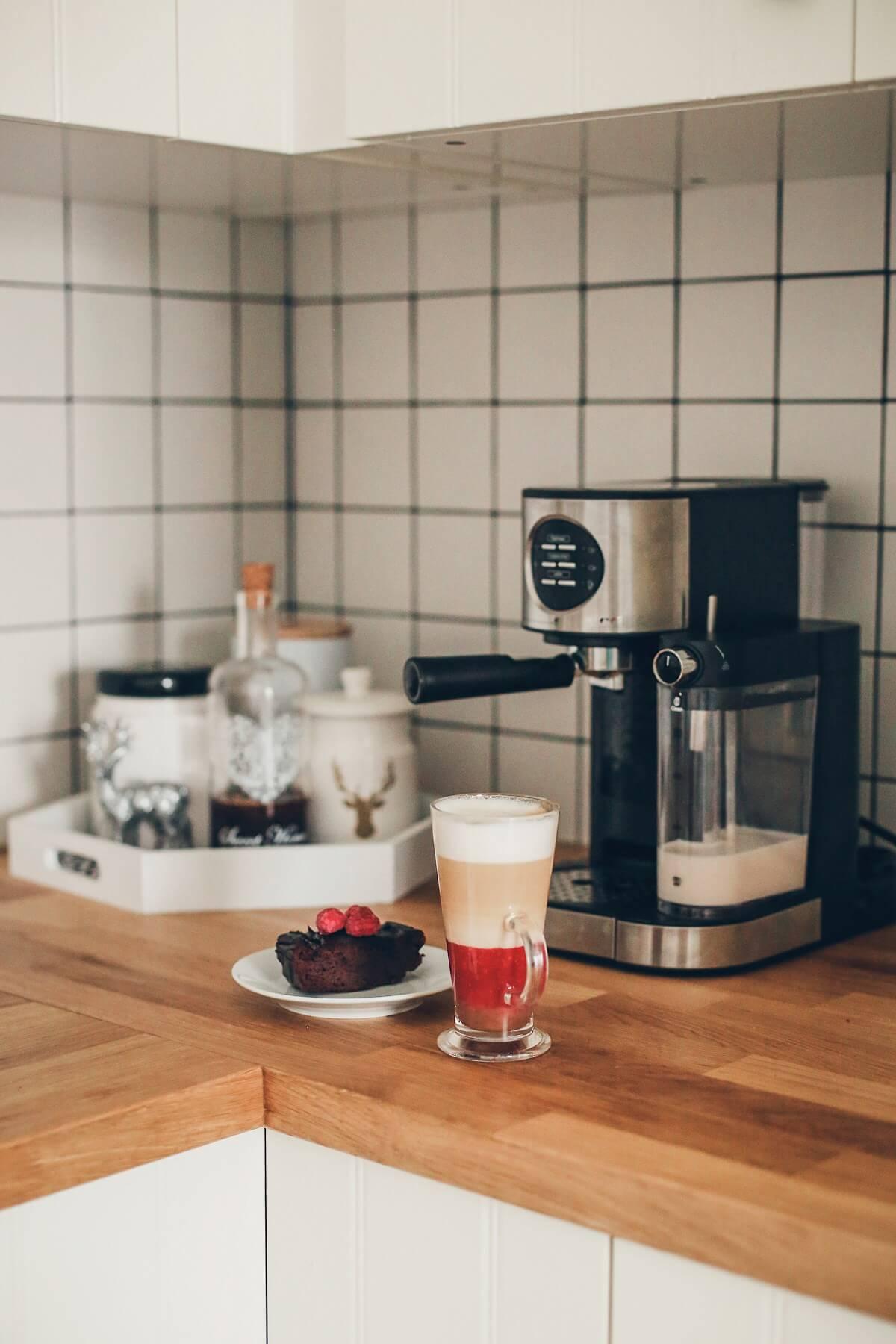 świąteczna kawa z malinami ekspres mpm