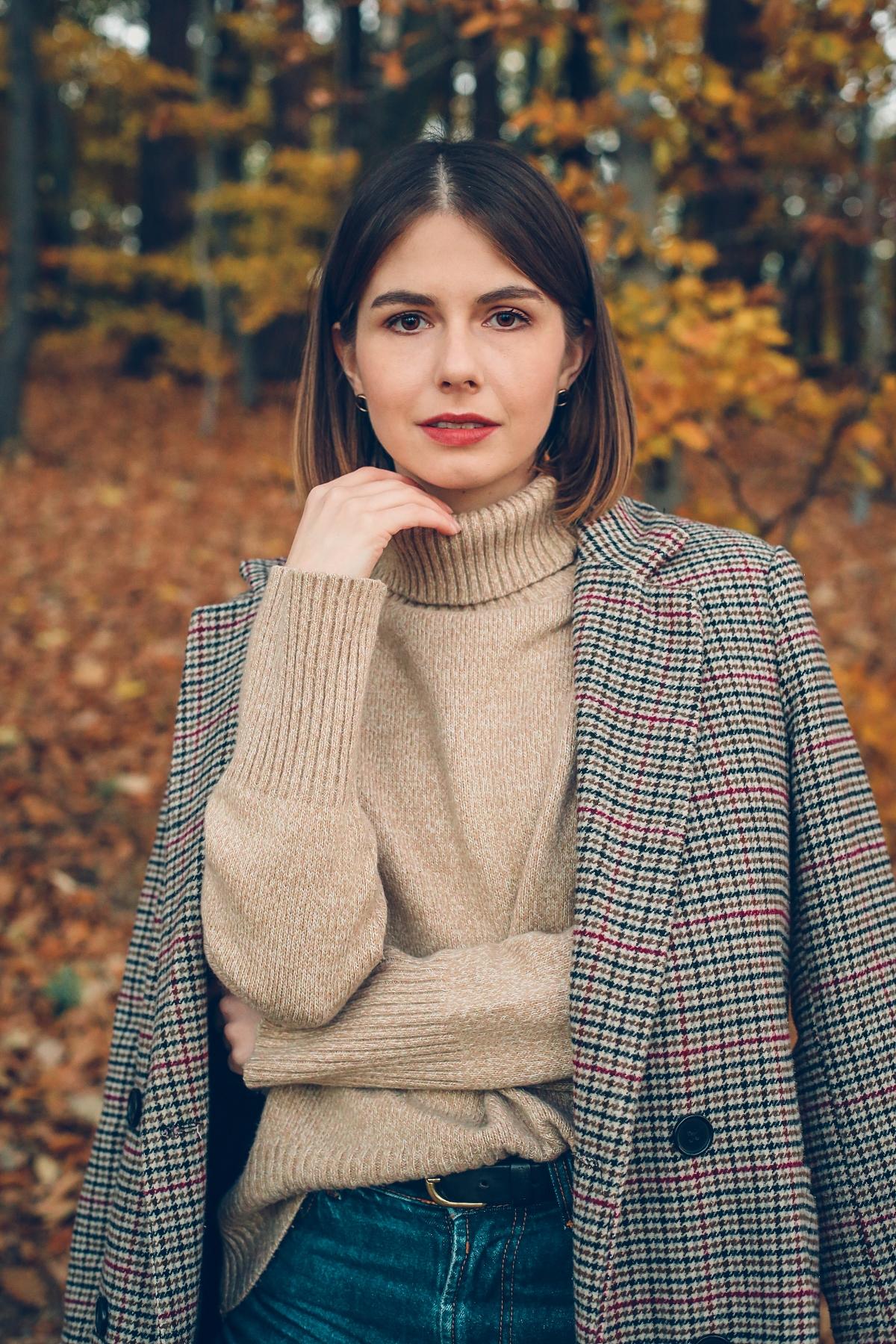 klif orłowski jesienny look ootd wełniany sweter secondhand