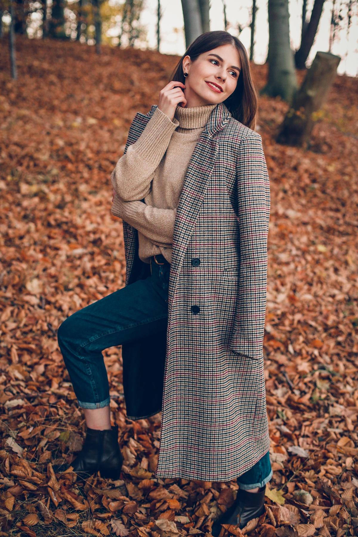 klif orłowski jesienny look ootd płaszcz z domieszką wełny