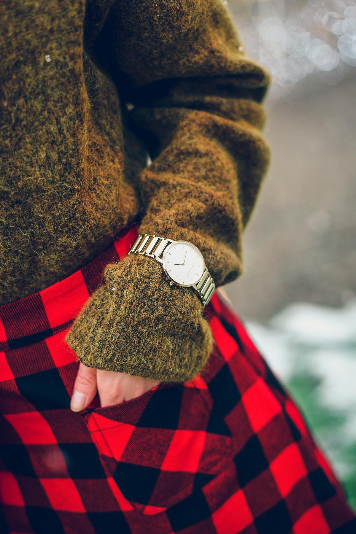 mini spódniczka w kratę zegarek rebecca minkoff  jarmark bożonarodzeniowy Gdańsk (1)
