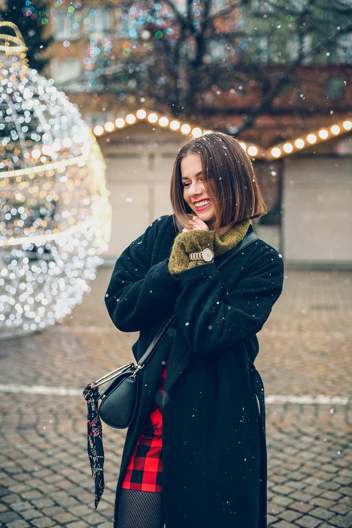 mini spódniczka w kratę jarmark bożonarodzeniowy Gdańsk (16)