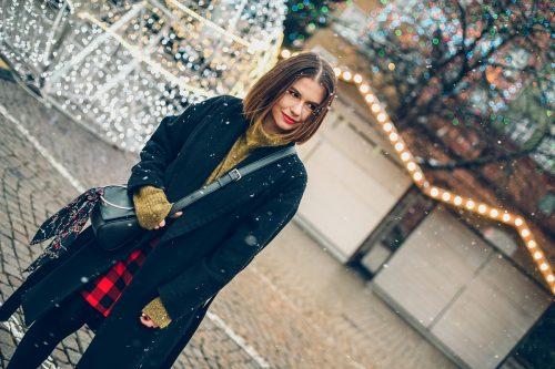 mini spódniczka w kratę jarmark bożonarodzeniowy Gdańsk (17)