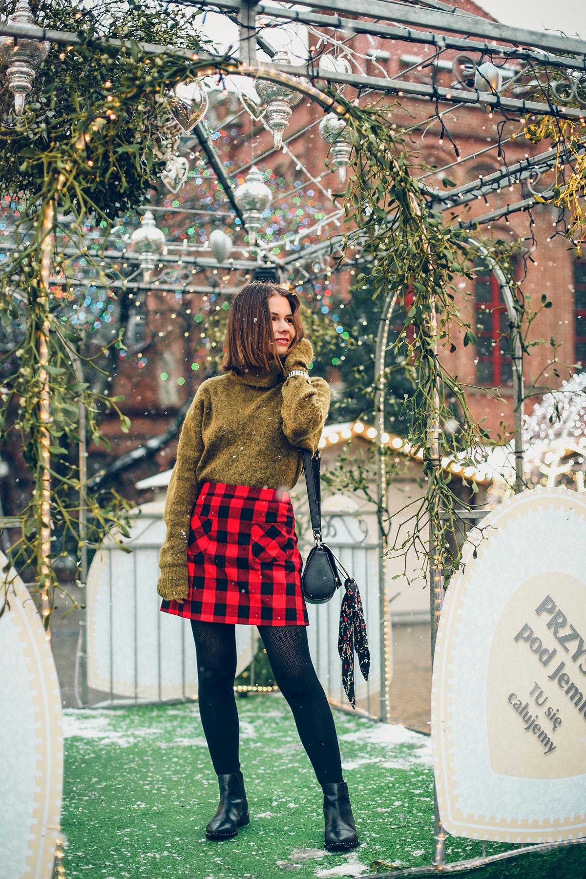mini spódniczka w kratę jarmark bożonarodzeniowy Gdańsk (23)