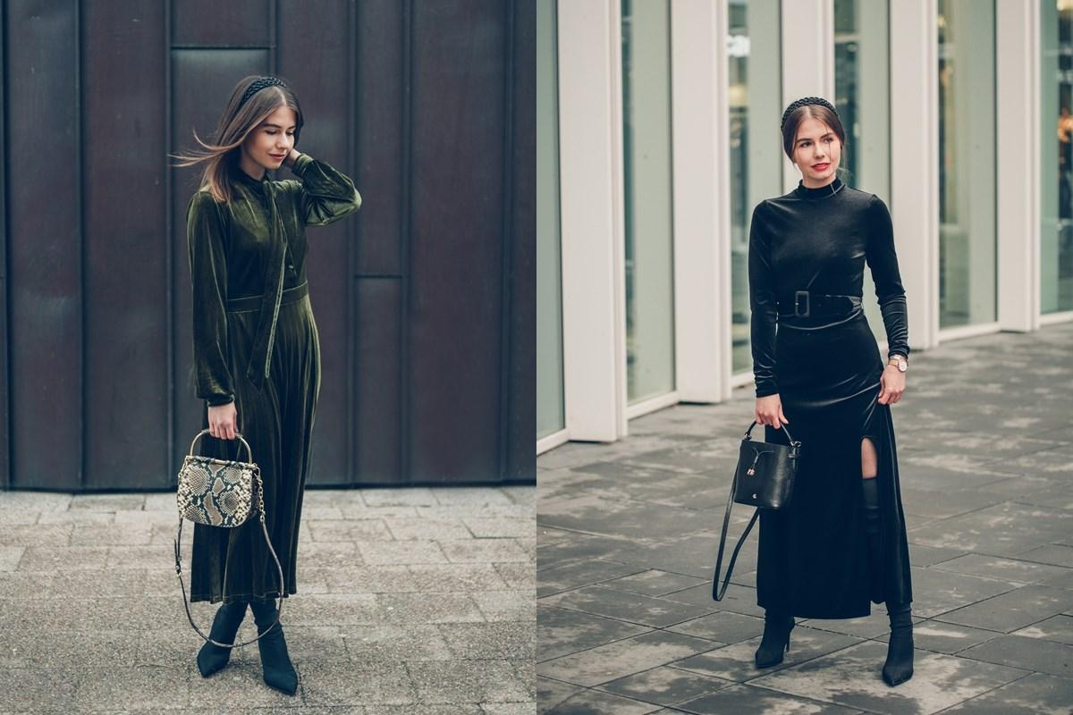 Welurowa sukienka na dwa sposoby forum gdańsk