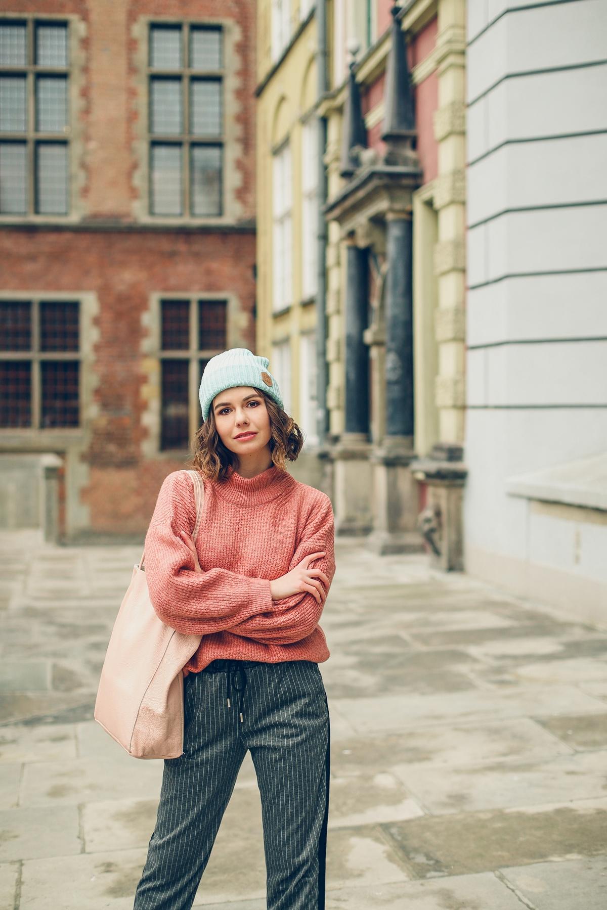 blog modowy stylizacja pastele plaszcz welniany oversize