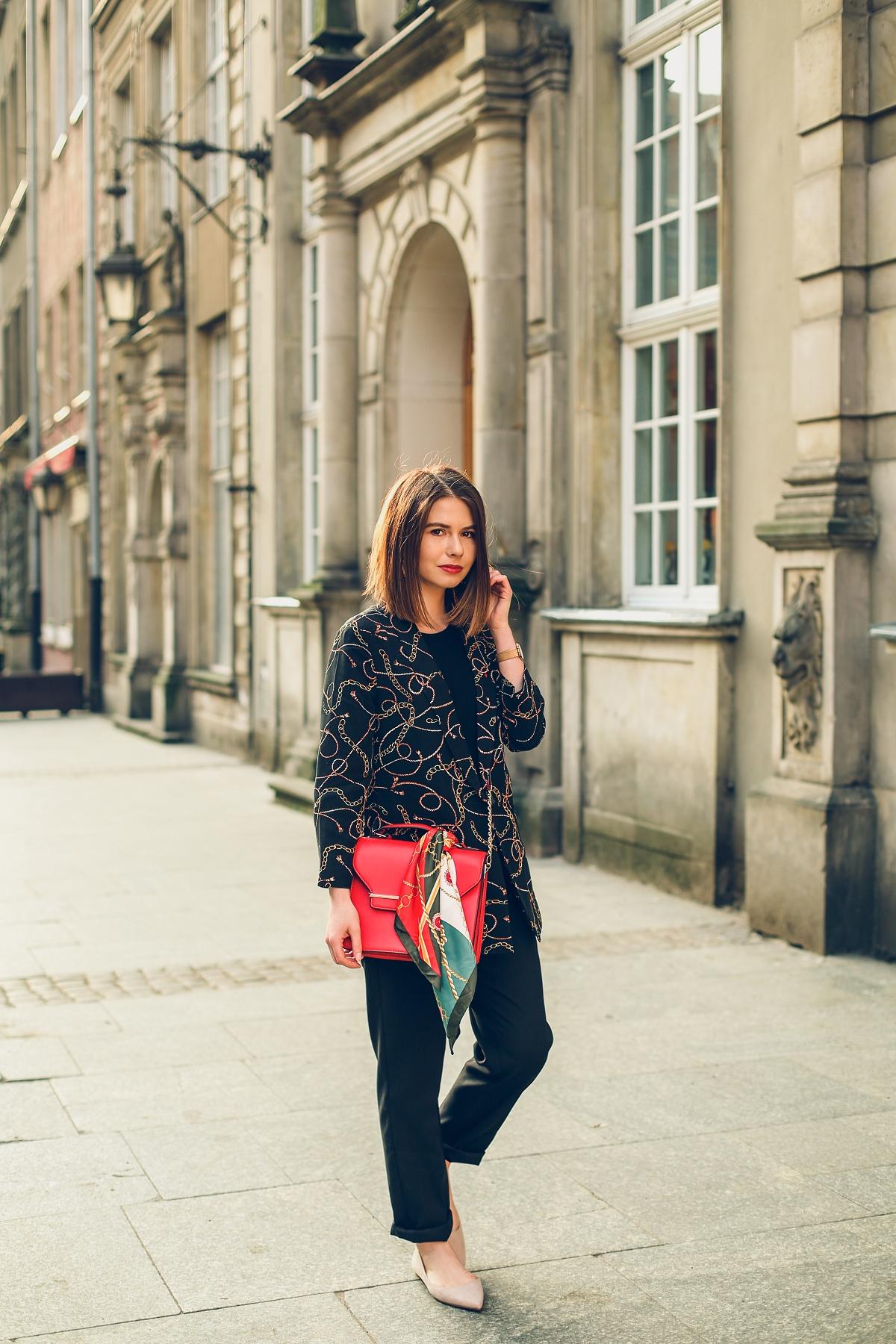 scarf print versace trend czerwony kuferek orsay