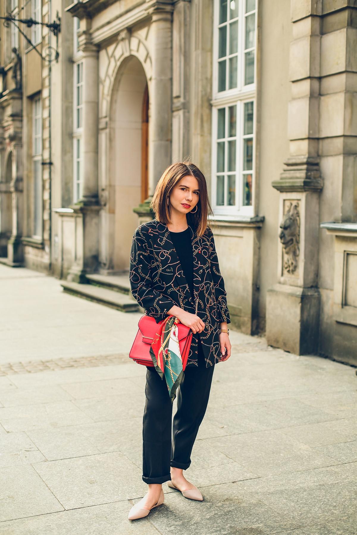 scarf print versace trend stylizacja orsay
