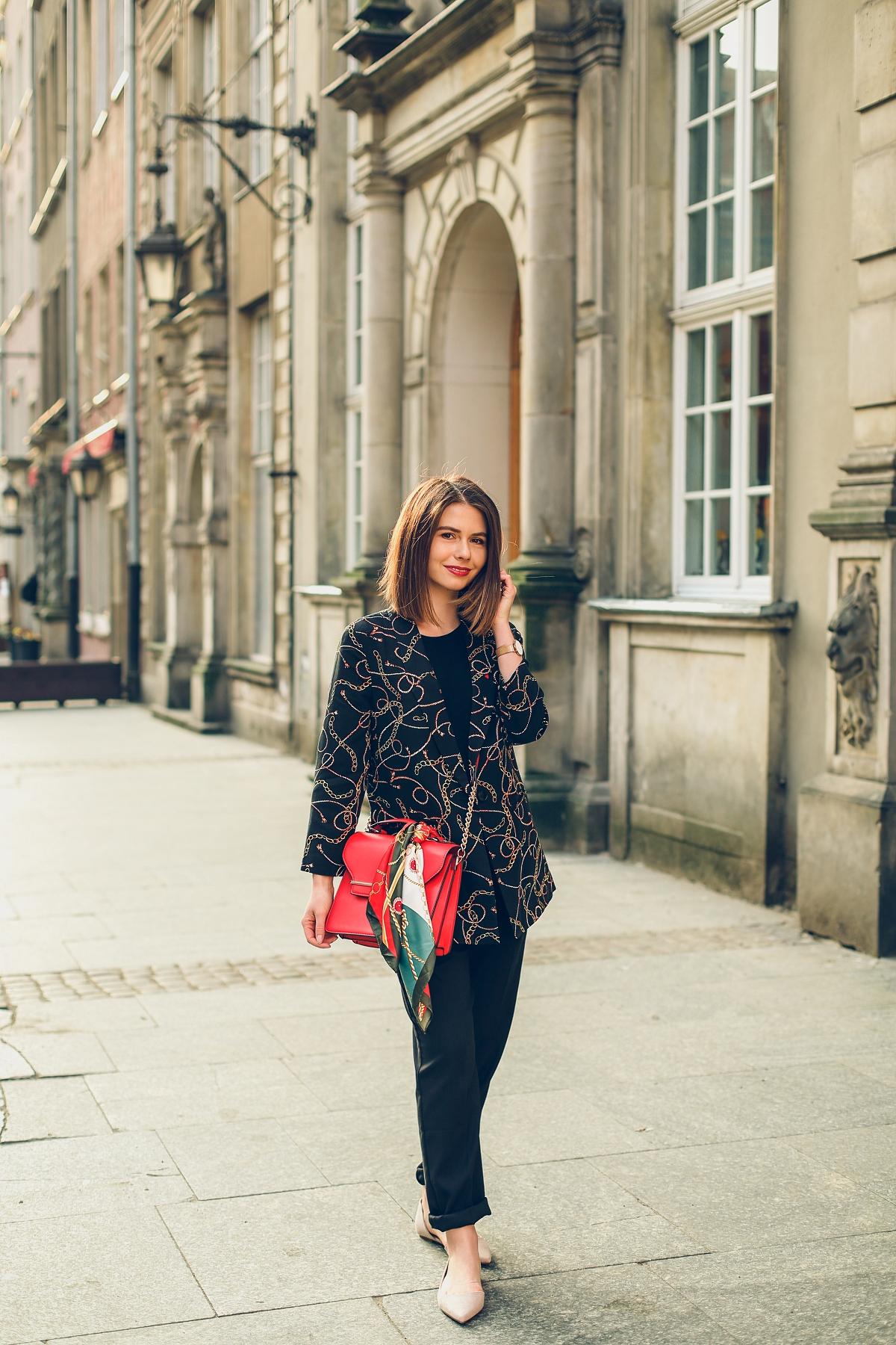 scarf print versace stylizacja orsay blog modowy