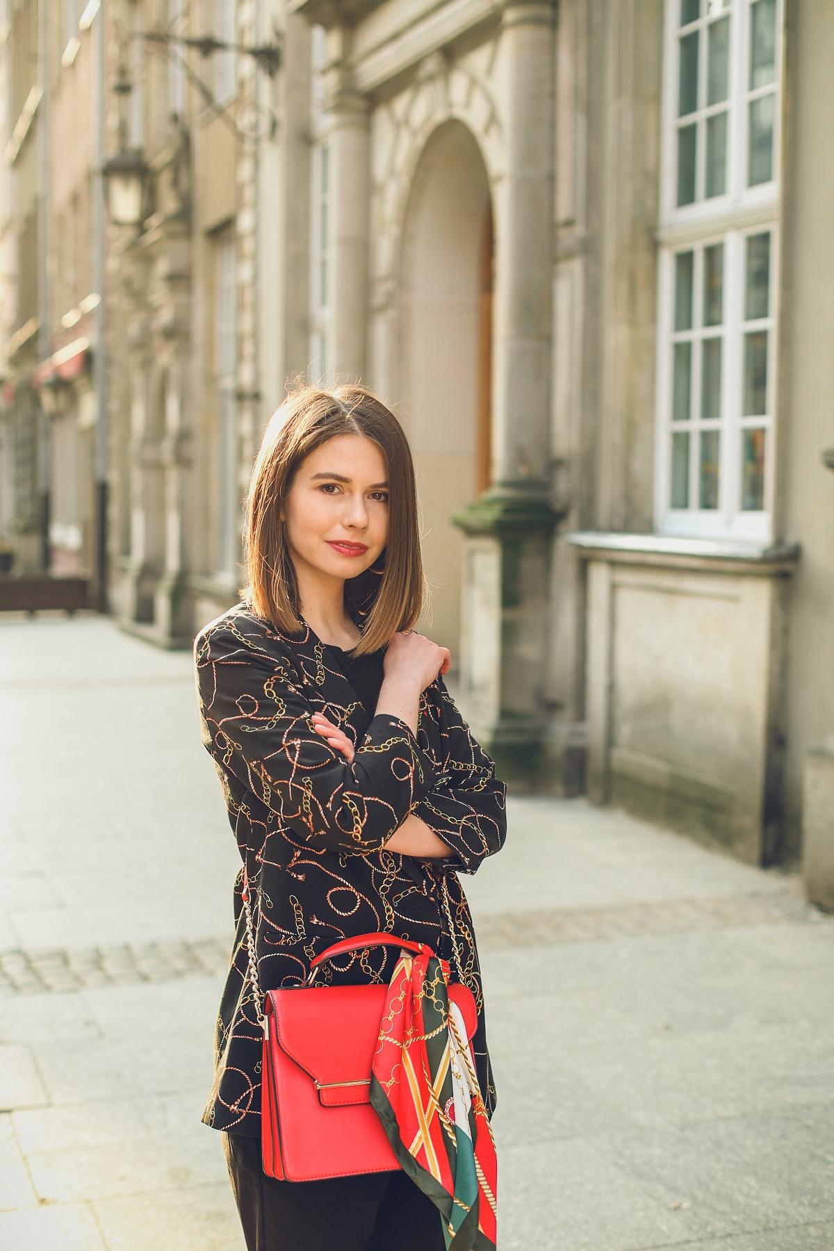 scarf print versace stylizacja orsay blog modowy sesja gdansk